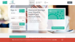 Goody's MasterCard - Manage your account - Comenity