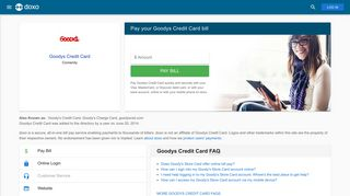 Goodys Credit Card: Login, Bill Pay, Customer Service and Care Sign-In