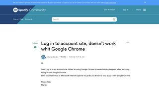 Solved: Log in to account site, doesn't work whit Google C ...
