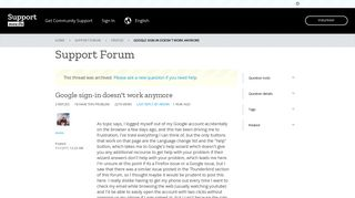 Google sign-in doesn't work anymore   Firefox Support Forum   Mozilla ...