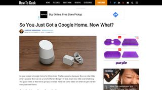So You Just Got a Google Home. Now What? - How-To Geek