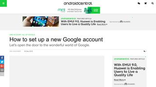 How to set up a new Google account | Android Central