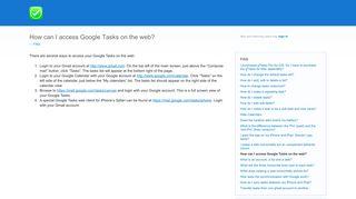 How can I access Google Tasks on the web? – gTasks iOS app ...