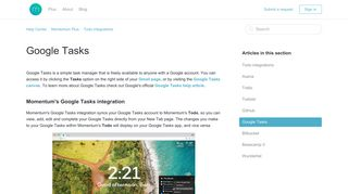 Google Tasks – Help Center - Momentum