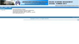 Government Polytechnic, Kolhapur-Student Academic Management ...