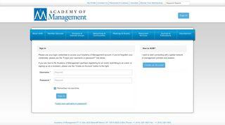 Login - Academy of Management