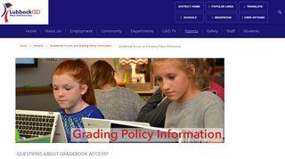 Gradebook Access and Grading Policy Information / Gradebook ...