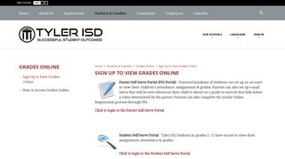 Grades Online / Sign Up to View Grades Online - Tyler ISD