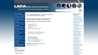 MPSC - Great Lakes Energy Cooperative - State of Michigan