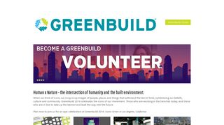 Welcome To Greenbuild International Conference and Expo