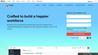 HR Software Solutions   Cloud based HRMS   HR System   Zoho People