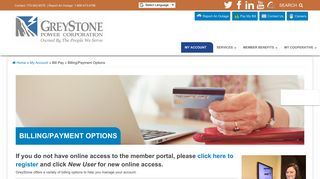 Billing/Payment Options | GreyStone Power Corporation