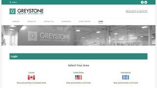 Login – Greystone Energy Systems