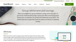 Group Retirement & Savings Options | Great-West Life in Canada