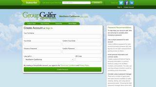 Sign Up for Your GroupGolfer Account   GroupGolfer.com