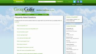 Frequently Asked Questions   GroupGolfer.com