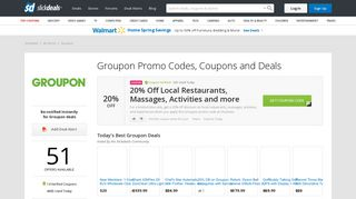Groupon Coupons, Promo Codes and Discounts | Slickdeals.net