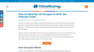 How to Advertise on Groupon - The Ultimate Guide - Fit Small Business
