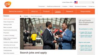 Search jobs and apply | GSK