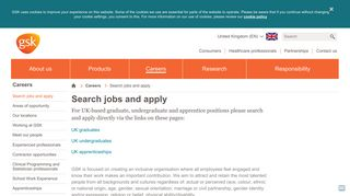 Search jobs and apply | GSK UK
