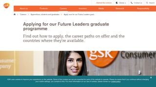 Applying for our Future Leaders graduate programme | GSK