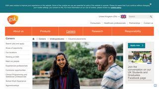 Industrial placements | GSK UK