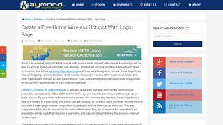 Create a Free Home Wireless Hotspot With Login Page • Raymond.CC
