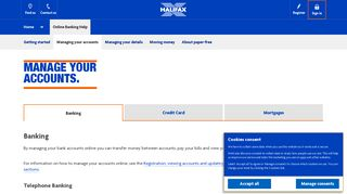 Halifax UK | Manage your accounts | Online Banking Help