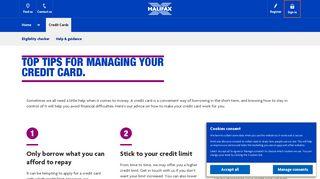 Halifax UK | Managing Credit Card Debt | Credit Cards