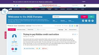 Trying to pay Halifax credit card online - MoneySavingExpert.com ...