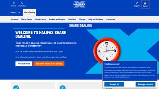 Halifax UK | Buying and selling | Sharedealing