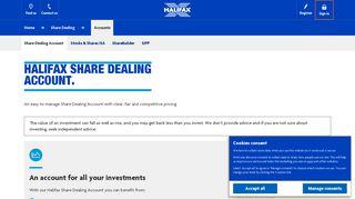 Halifax UK | Share Dealing Account | Share Dealing