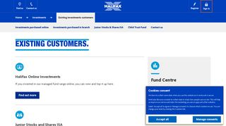 Halifax UK | Existing Investment customers | Investments
