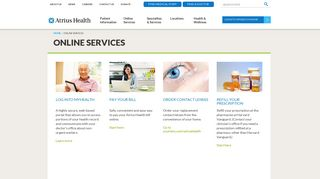 Online Services - Atrius Health