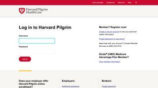Harvard Pilgrim Health Care | Login