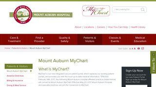 Mount Auburn MyChart - Mount Auburn Hospital