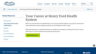 Your Career at Henry Ford Health System