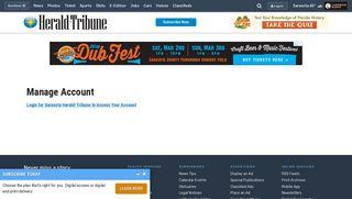 Manage Account - Sarasota Herald-Tribune - Sarasota, FL