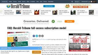 FAQ: Herald-Tribune full-access subscription model