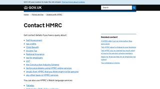 Contact HMRC - GOV.UK