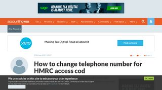 How to change telephone number for HMRC access cod | AccountingWEB