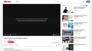 How to Submit your VAT Return Online - YouTube