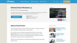 HomeUnion Reviews - Is it a Scam or Legit? - HighYa
