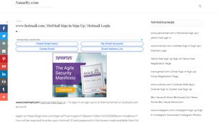 www.hotmail.com | HotMail Sign in Sign Up | Hotmail Login ...