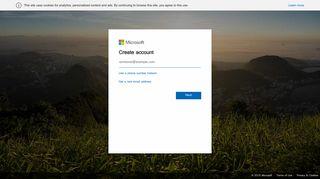 Create account - Microsoft account - Outlook.com