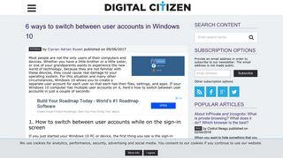6 ways to switch between user accounts in Windows 10 | Digital Citizen