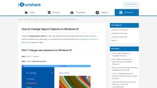 How to Change Sign-in Options on Windows 10 - iSunshare