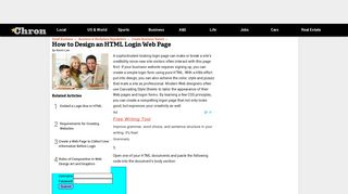 How to Design an HTML Login Web Page | Chron.com
