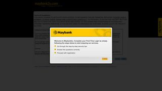 Terms & Conditions - Maybank2u