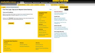 First Time Login / Sign Up for Maybank Online Banking > eServices ...